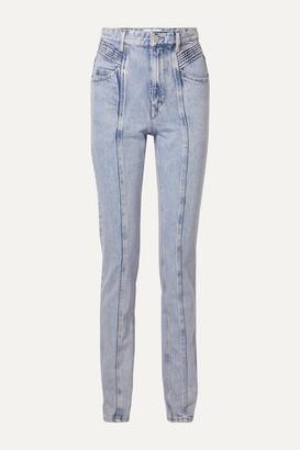 Etoile Isabel Marant Hominy Acid-wash High-rise Slim-leg Jeans - Light denim