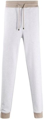 Brunello Cucinelli fine knit colour block track pants