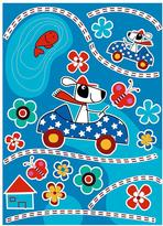 Freestyle 27 in. x 19 in. Dog's Day Wall Decal