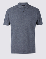 M&S Collection Pure Cotton Textured Polo Shirt