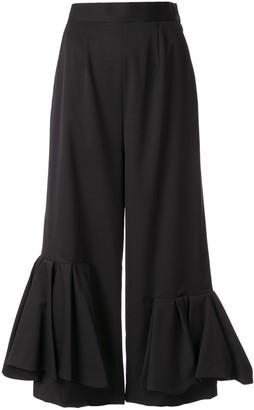 Enfold Asymmetric-Drapery Trousers