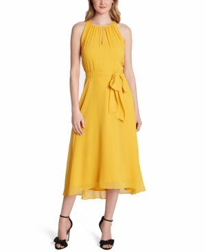 Tahari ASL Halter Sleeveless Fit & Flare Dress