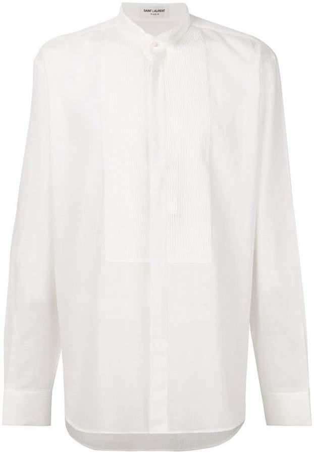 Saint Laurent semi-sheer ribbed plastron shirt