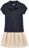 Nautica Uniform Pleated Polo Dress, Little Girls (4-6x)