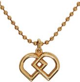DSQUARED2 Brass Ball Chain Logo Necklace