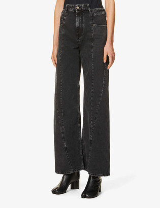 Maison Margiela Wide-leg high-rise jeans