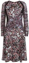 Versace Wild Side Print Pleated Dress
