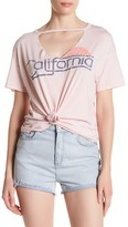 Sundry Jersey Graphic Cutout Tee