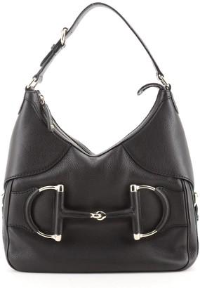 Gucci Web Horsebit Heritage Hobo Leather Medium