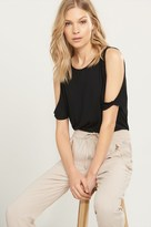 Dynamite Basic Cold Shoulder Top