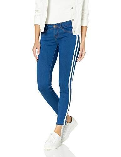 CG JEANS Women/'s Skinny Leg Blue Junior Fit Slim Mid Waist Cute Biker Vibrant