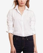 Lauren Ralph Lauren Petite Stretch Long-Sleeve Shirt
