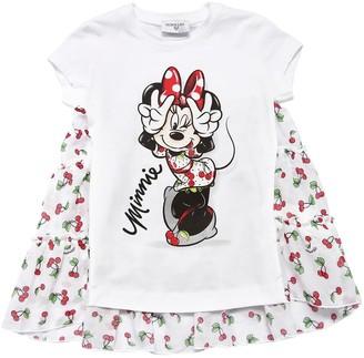 MonnaLisa Minnie & Cherries Cotton Jersey T-Shirt