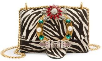 Miu Miu Cavallino Calf Hair & Leather Embellished Crossbody Bag