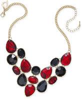 Thalia Sodi Gold-Tone Lace Stone Bib Necklace, Only at Macy's