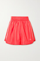 Thumbnail for your product : Stella McCartney + Adidas Originals Josie Neon Striped Shell Shorts - Coral