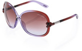 Tom Ford Sonya Gradient Sunglasses, Violet/Brown