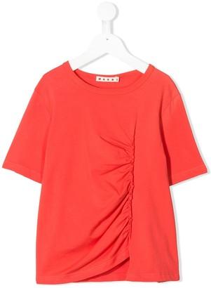 Marni ruffle design T-shirt