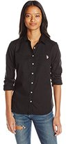 U.S. Polo Assn. Juniors Solid Single Pocket Long Sleeve Shirt
