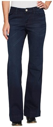 Wrangler Retro Mae Mid-Rise Trouser Jeans (Dark Wash) Women's Jeans