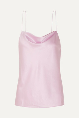 CAMI NYC The Axel Draped Stretch-silk Charmeuse Camisole - Pink
