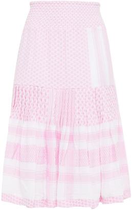 Cecilie Copenhagen Aftergold Pleated Cotton-jacquard Skirt