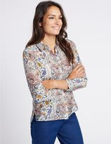 Marks and Spencer Cotton & Silk Blend Paisley Print Shirt