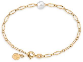 Majorica Sterling Silver & Imitation Pearl Chain Bracelet