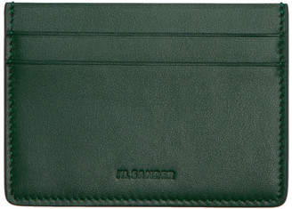Jil Sander Green Credit Card Holder