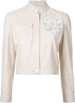 Fendi floral appliqué jacket