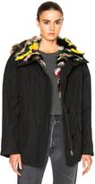 Army by Yves Salomon Reversible Fox Short Parka Jacket with Fox Fur