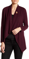 Bobeau One-Button Fleece Wrap Cardigan (Petite)