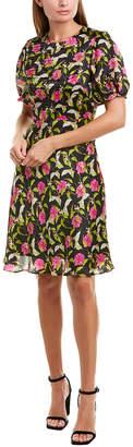 Milly Cynthia Silk A-Line Dress