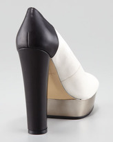 Rachel Zoe Lauren Two-Tone Peep-Toe Pump