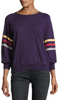 The Great The College Sweatshirt, Purple/Multicolor