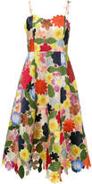 Rosie Assoulin Hodges Podges floral silk blend midi dress