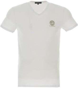 Versace V-Neck Logo T-Shirt
