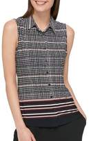 Tommy Hilfiger Sleeveless Button-Down Top
