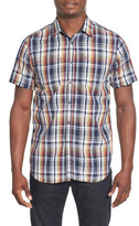 Howe Duckhorn Plaid Short Sleeve Trim Fit Shirt