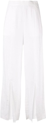 Venroy split wide leg trousers