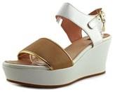Cuplé 77547 Open Toe Leather Wedge Heel.