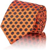 Barneys New York Men's Circle-Pattern Silk Jacquard Necktie