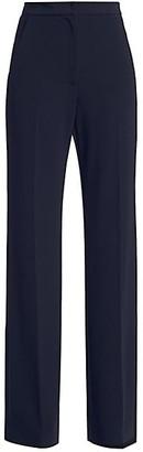 Lela Rose Maggi Fluid Crepe Wide-Leg Pants