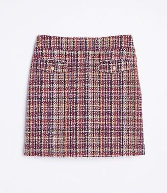 LOFT Tall Tweed Shift Skirt