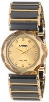 Jowissa Women's J1.057.M Safira 99 Gold PVD Faceted Sapphire Bezel Gold Dial Watch