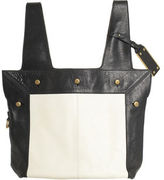 Two Tone Shopper- BLK & WHT