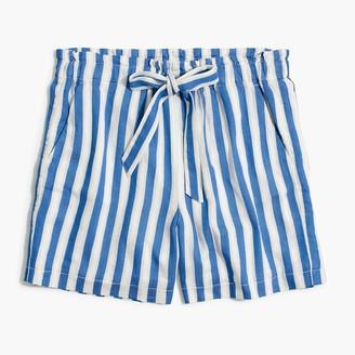 J.Crew Pull-on paperbag short in cotton-linen
