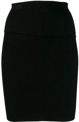 Helmut Lang short ribbed skirt