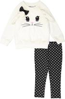 Kids Headquarters White Rabbit-Face Tunic & Leggings - Infant Toddler & Girls
