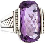 David Yurman Amethyst & Diamond Ring
